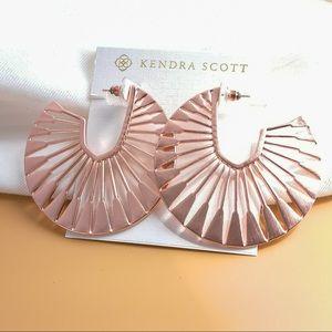 Kendra Scott Deanne Hoop Earrings In Rose Gold